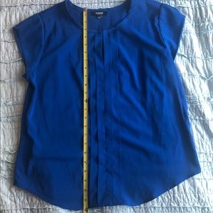 Premise Studio royal blue pleated top.